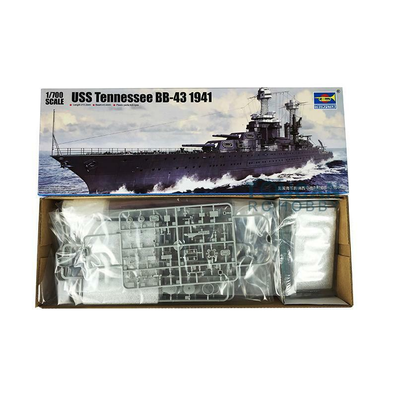 USS Battleship BB-43 Tennessee 1941 Destroyer Static Model Trumpeter 05781 1 700