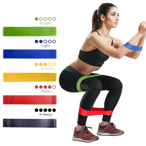 FREE/&FAST SHIPPING 5PCS Fitness Bands Mini Loop Band Gum Elastic Resistance Set