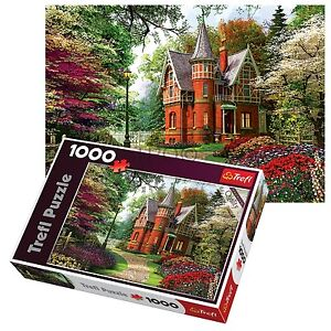 Trefl-1000-Piece-Adult-Large-Victorian-Cottage-Floor-Autumn-Jigsaw-Puzzle-NEW