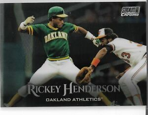 2019-Topps-Stadium-Club-Chrome-Parallel-Rickey-Henderson-Oakland-Athletics
