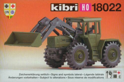 NEU Kibri 18022 Mercedes Benz Trac mit Frontlader Bundeswehr Militär 1:87 H0