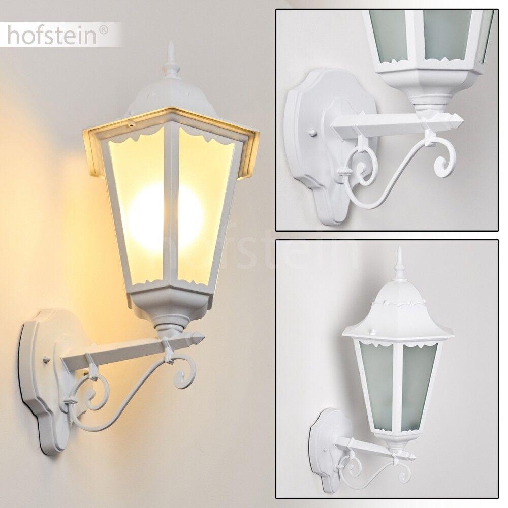 Klassische Außen Wand Leuchten weiß Garten Hof Veranda Terrasse Lampen Milchglas