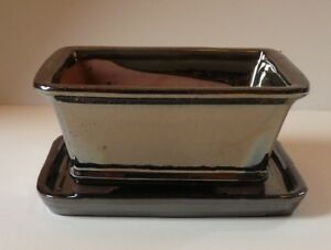 16-cm-Glazed-Rectangular-Bonsai-Pot