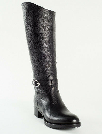 New Femme Black Leather made in Italy Boots Size 37 US 7