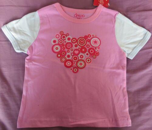 Size 2 NEW Deezo Brand Girls Purple Heart T-Shirt Excellent Quality