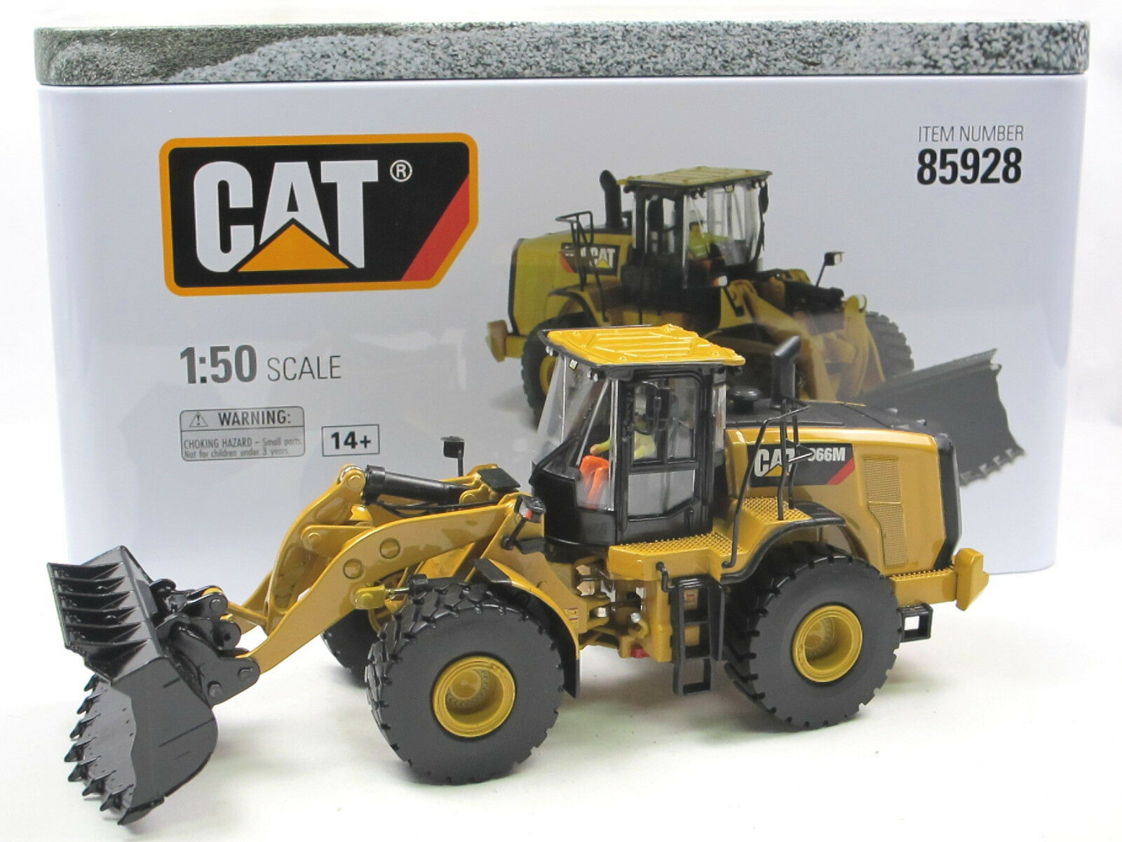 Diecast Masters 85928 CAT 966m cantiere WHEEL LOADER Caterpillar 1 50 NUOVO OVP