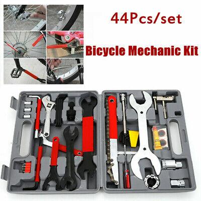 44PCS Complete Bike Bicycle Repair Tools Tool Kit Set Home Mechanic Cycling New
