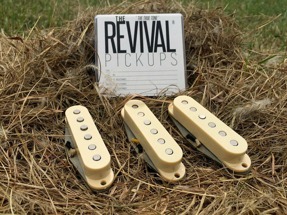 NEW -THE REVIVAL PICKUPS RPS 5 SET f. STRAT® VINTAGE ALNICO III - THE TRUE TONE