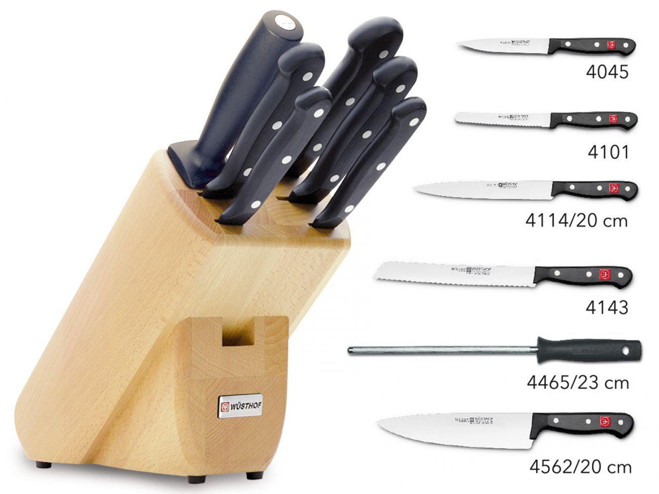 Wüsthof Gourmet 9831 couteau Bloc set de couteaux avec 6 pièces