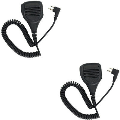 2X Rainproof Speaker Microphone Mic For MOTOROLA EP450 GP300 GP88S GP2000 Radios