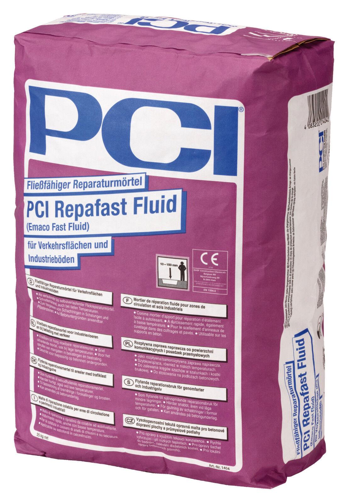 PCI Repafast® Fluid 25 kg Fließfähiger Reparaturmörtel für Verkehrsflächen