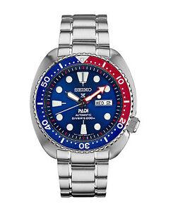 New-Seiko-Padi-Automatic-Prospex-Pepsi-Turtle-Divers-200M-Men-039-s-Watch-SRPA21