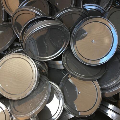 60X rond plastique étain couvercles-pressitin Press en thon Tin Caps haricots cover