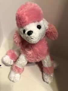 The Bear Factory Poodle Pink Amp White Soft Fur 14in Plush