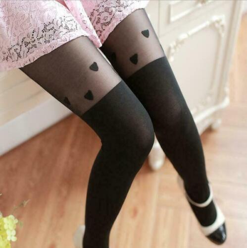 Tattoo Hosiery Socks Cute Patterns Sheer Pantyhose Mock Stockings Tights Fashion
