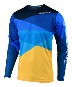 Troy-Lee-Designs-2019-GP-Air-Jet-Jersey-Yellow-Blue-Motocross-Dirt-Bike-MX