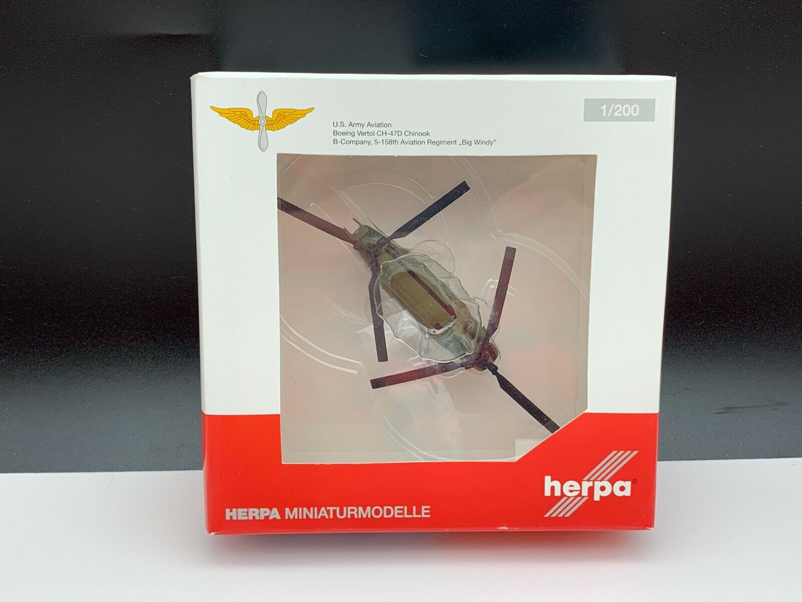HERPA AVION 555807 miniatures Modèles Avion 1 200. Jamais déballé. TOP