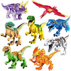 Dinosaur Rex Tyrannosaurus Jurassic World 8 Minifigures Building Brick fit LEGO