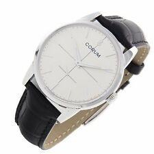 Corum Artisan Heritage 1957 38mm stainless Swiss manual mens watch Box Papers