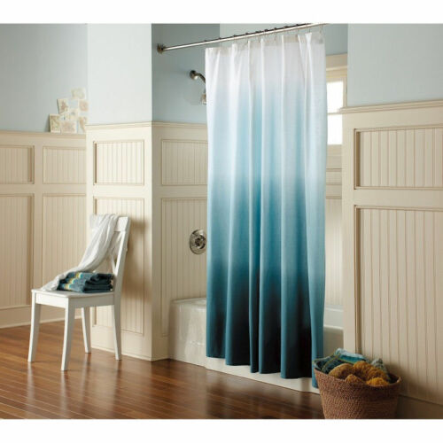 Dark green Threshold Green Ombre Shower Curtain    Cream// Teal