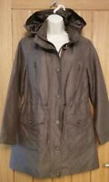 Per Una Ladies Hooded Mac Size 10 Jacket Coat