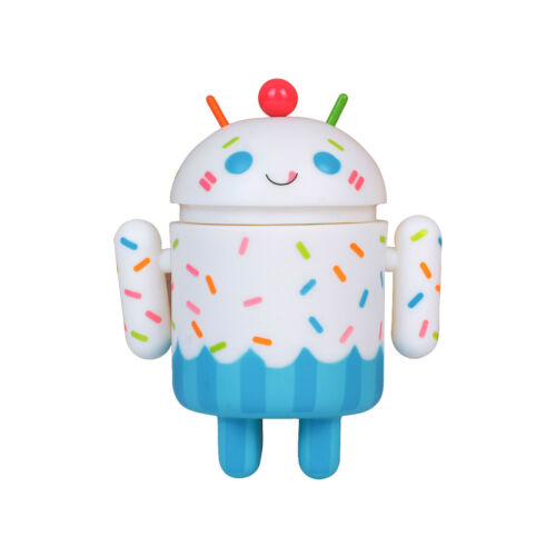 Android Mini Cupcake Figure Cutie Robot Plastic Toy US Shipped