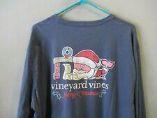 L Vineyard Vines Men/'s Crimson Red Football Graphic Long Sleeve Pocket T-Shirt