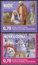 Bosnia Herzegovina 2012 Christmas/New Year/Greetings/Nativity/Snowmen 2v b2756j