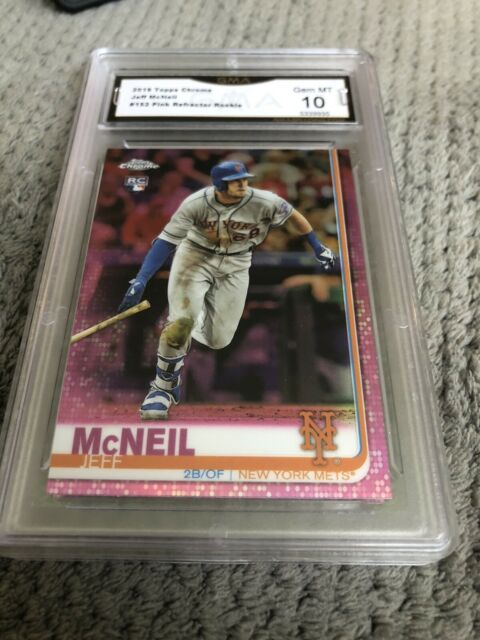 JEFF McNEIL 2019 Topps Chrome Pink Refractor #152 Rookie Card RC Graded 10 💎