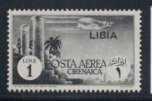 Libia-1941-Sass-52-Nuovo-100-Posta-Aerea-1-Lire-Cirenaica