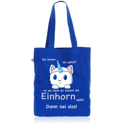 Sei immer du selbst Einhorn Baumwollbeutel Beutel Jutebeutel Tasche Katze Kitty