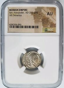 Severus-Alexander-Roman-Empire-AD-222-235-NGC-AU-Ancient-Caesar-Silver-Denarius