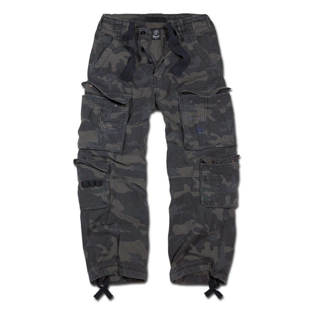 Brandit Hose Pure Vintage Trousers Cargo Pant mit 8 Taschen darkcamo