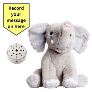 8397b971ce9 Image is loading Record-Baby-Heartbeat-Bear-Elephant-Teddy-Bear-25cm-