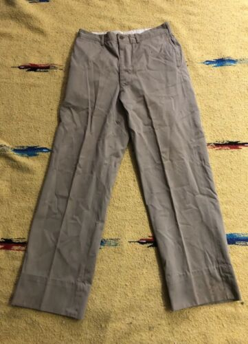 "VINTAGE MILITARY Work KHAKI CHINO PANTS W 30"" Dist"