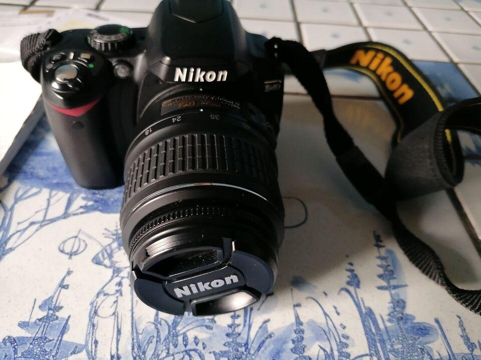 Nikon D40, spejlrefleks, 6 megapixels