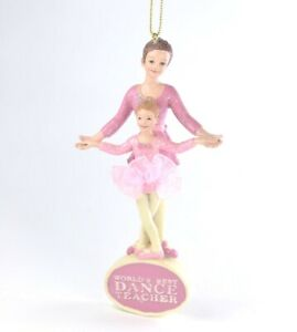World's Best Dance Teacher Christmas Ornament NEW Kurt Adler