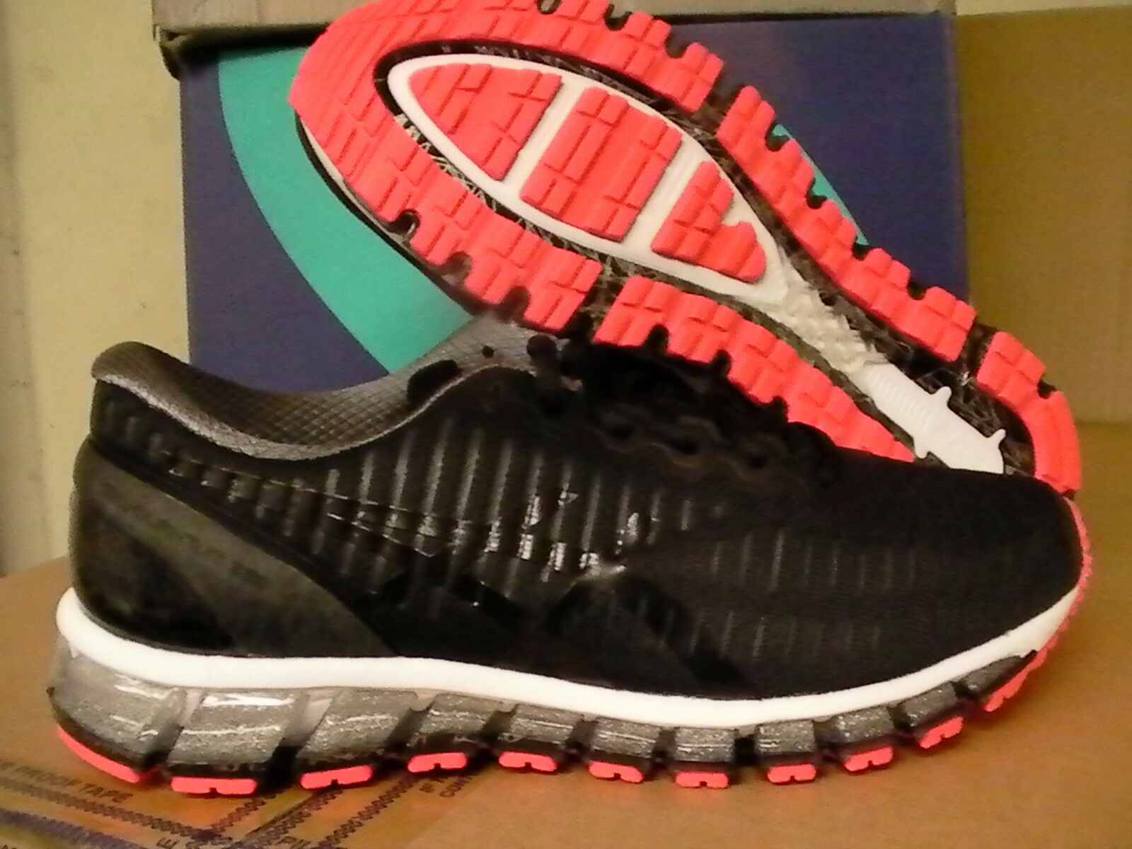 Asics women's gel quantum 360 running shoes black onyx hot red size 11.5 us