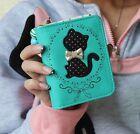 2016 Cat 3 SZ Clutch Checkbook Money Clip Change Bag Women Purse Handbag Wallet
