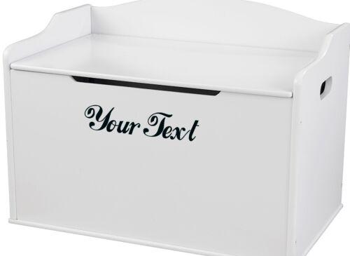 Toybox Nursery CHOOSE COLOUR /& FONT for Cot 2X CUSTOM VINYL DECAL