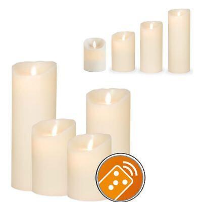 Sompex 3x LED Echtwachskerzen-Set elfenbein 8x 12,5//18//23cm mit Fernbedienung