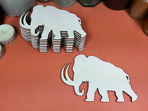x10 laser cut wood cutouts crafts shape blanks WOODEN ELEPHANT Shapes 12cm