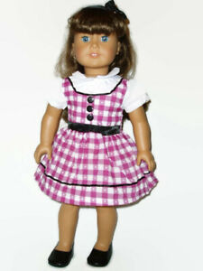 Retro-1950-039-s-School-Dress-Fits-American-Girl-Dolls-18-034-Doll-Clothes-3pc-Outfit