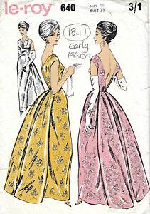 1323 1960s Vintage Sewing Pattern vestido de B38
