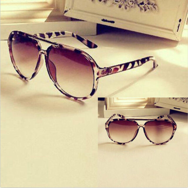 SunGlasses New Colors Mirror Fashion Style Shades Men Women Classic Leopard N3Z