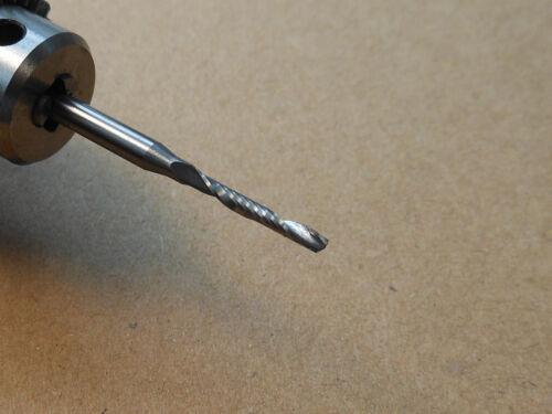 """10x 2mm Single Flute Spiral End Mill Cutter CNC 10mm CEL 1//8/"""" 3.175mm Shank"""