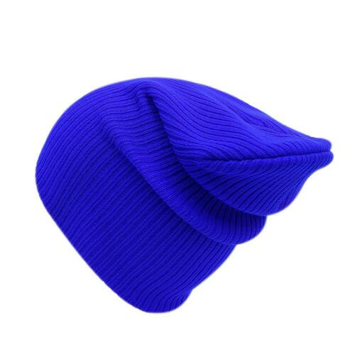Unisex Women Men Cap Solid Color Warm Hat Skullies Knitted Beanie Cap #S5