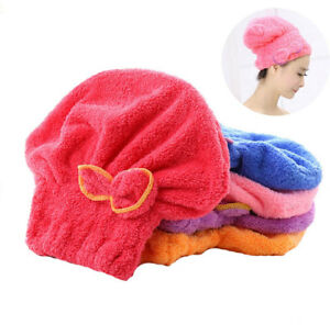 Microfiber-Women-Bath-Quick-Dry-Hair-Magic-Drying-Turban-Wrap-Towel-Hat-Cap
