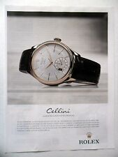 PUBLICITE-ADVERTISING :  ROLEX Cellini Dual Time  2014 Montres