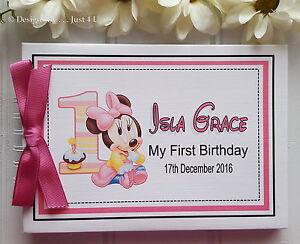 Personalised Baby Boy Or Girl 1st Birthday Scrapbook Photo Album
